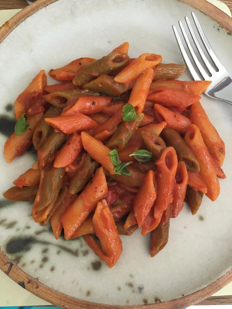 rich tomato one pot pasta, vegan