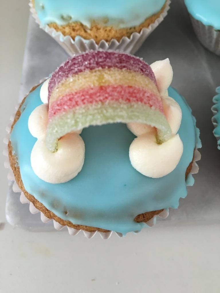 dairy-free rainbow cupcakes