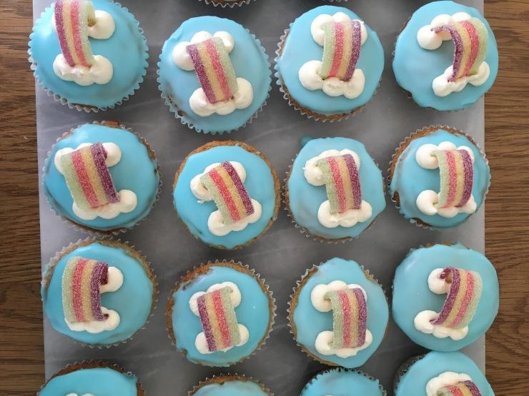 egg-free rainbow cupcakes