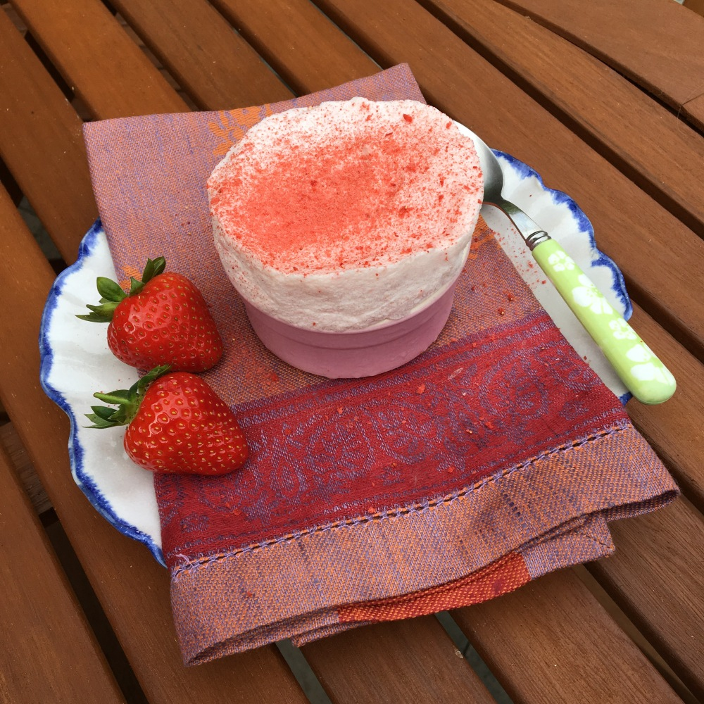 vegan strawberry souffle