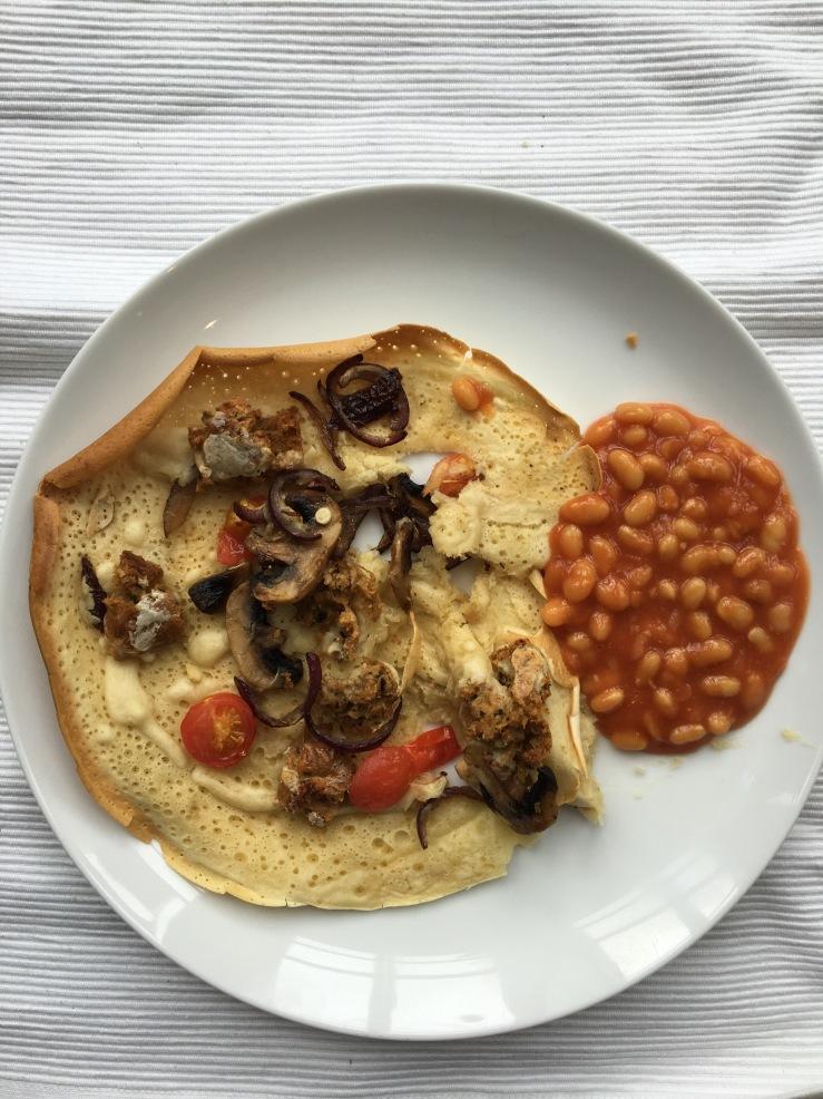 vegan savoury pancakes