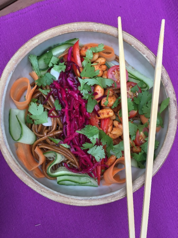 vegan bahn mi salad bowl