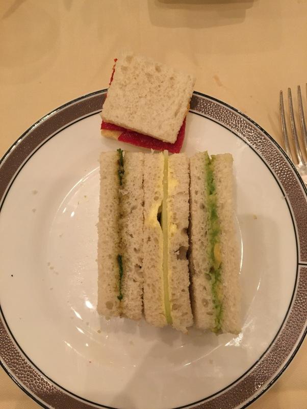 vegan sandwiches at The Langham