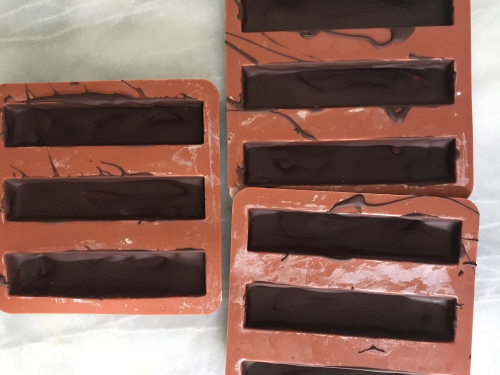 coating chocolate moulds