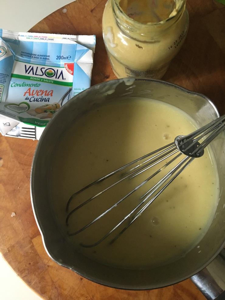 dairy-free mustard cream sauce, vegan