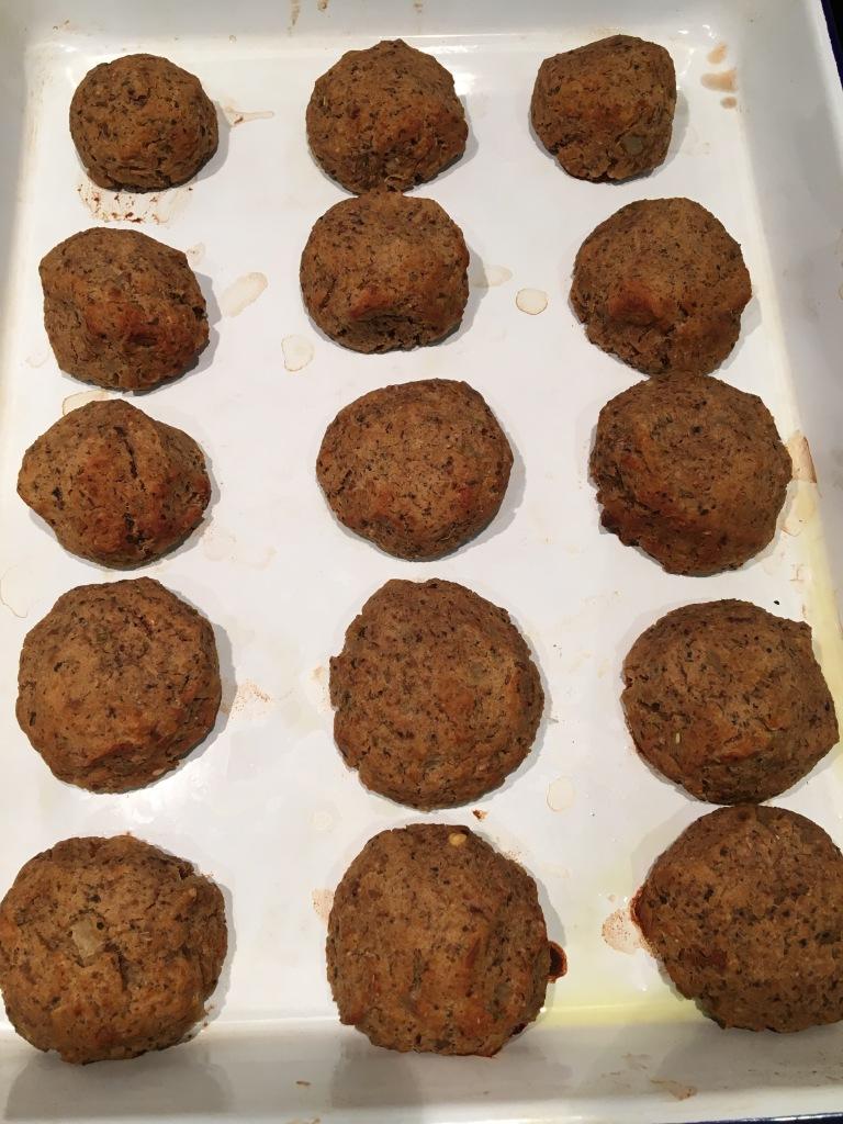 baked vegetarian Swedish meatballs