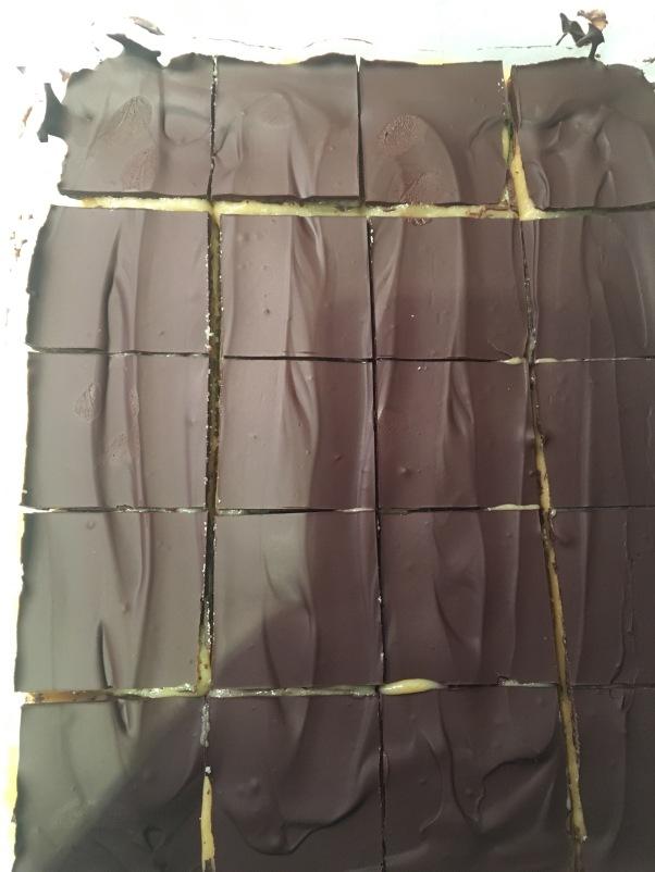 vegan caramel chocolate shortbread