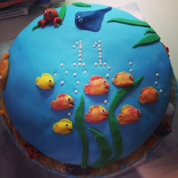 underwater dairy-free cake