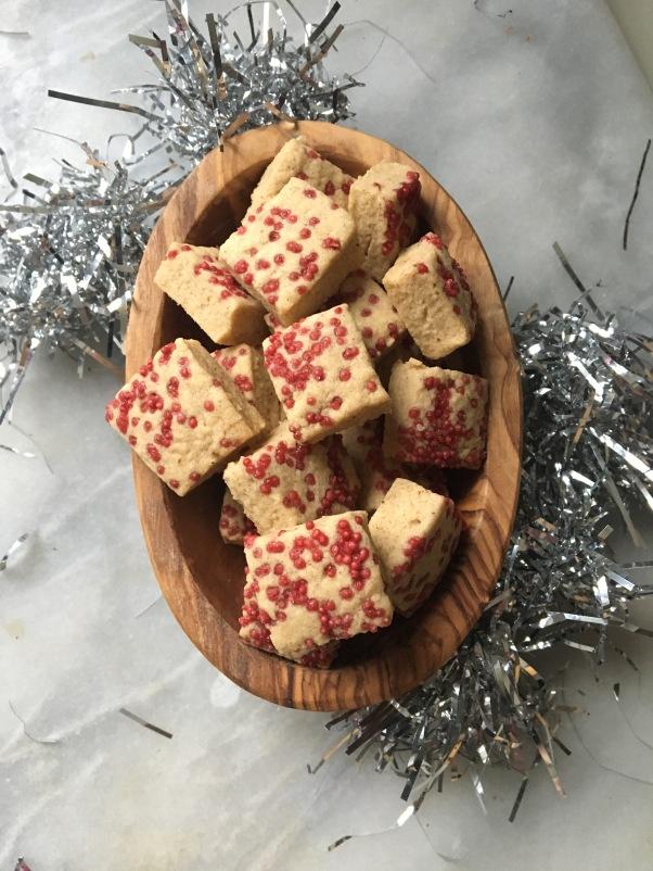 Christmas Spiced shortbread, dairy-free, egg-free