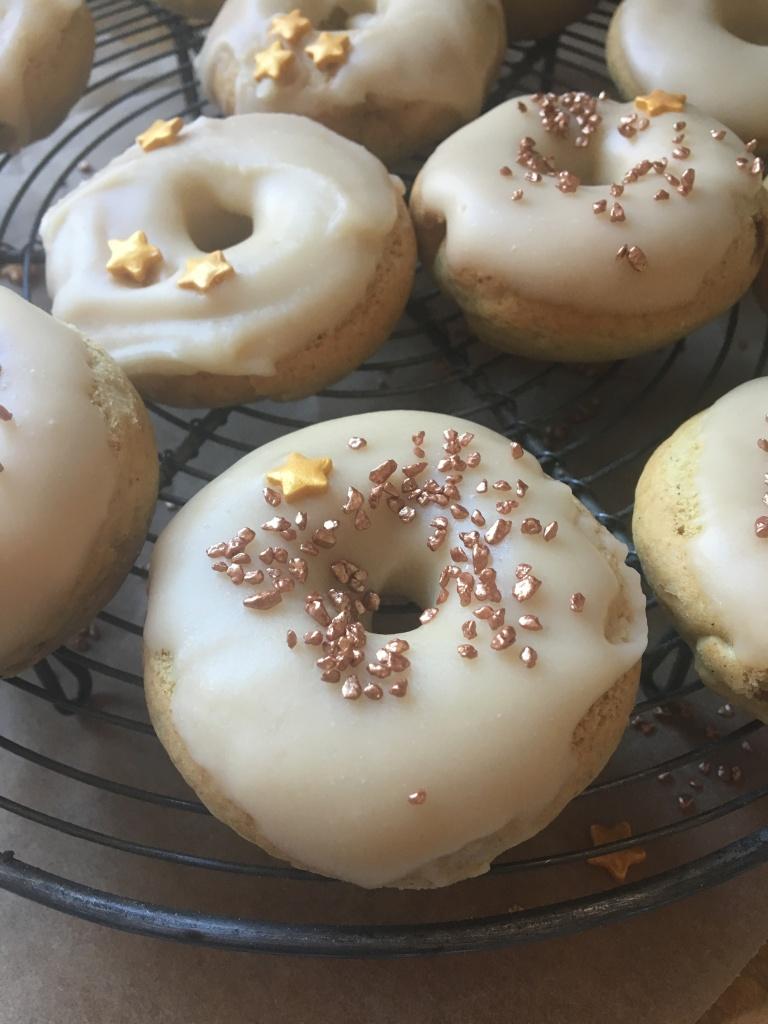 vegan maple glazed doughnuts