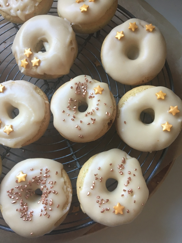 maple glazed spiced doughnuts, dairy-free egg-free nut-free