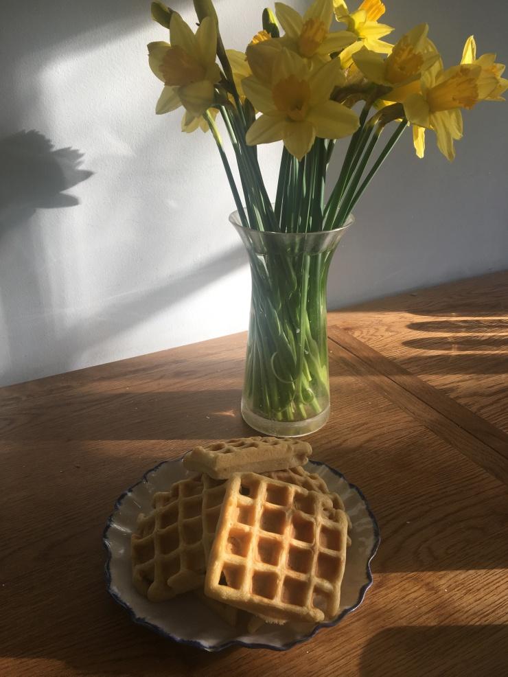 homemade dairy-free egg-free waffles